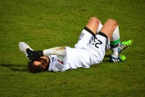 サッカー選手の肉離れ