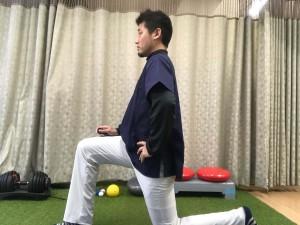 腸腰筋ストレッチ姿勢